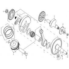 CFMoto 500cc CF188 Sprocket, Balance Shaft