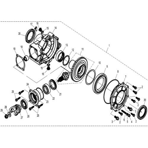 Kazuma Mammoth 800 LH Rear Inner Axle Shaft