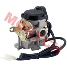 GY6 50cc Kunfu Carburetor Assy PD18 w/ Accelerator